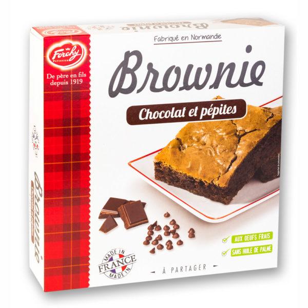 brownie chocolat et pépites chocolat
