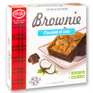 brownie chocolat et coco